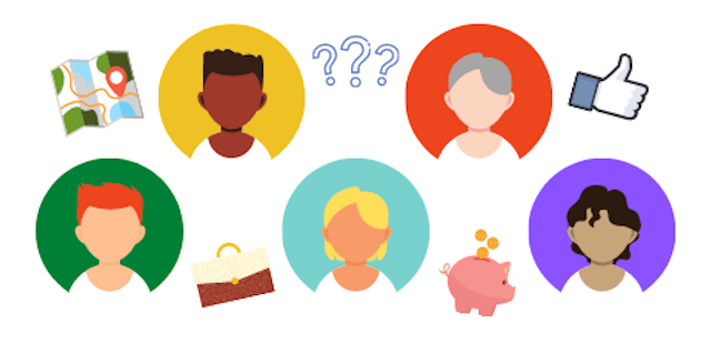 illustration of different buyer personas