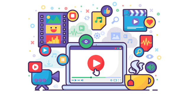 illustration of ad graphics, videos and multimedia