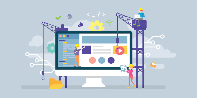 illustration of web design and development