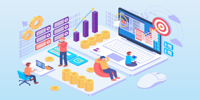 illustration of paid advertising (ppc)